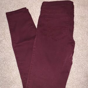 Abercrombie and Fitch Maroon Pants